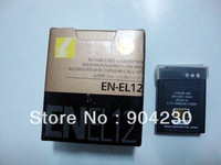 1pcs Shipping Free+ Digital camera battery EN-EL12 ENEL12 el12 for Nik Coolpix S610 S620 S630 camera