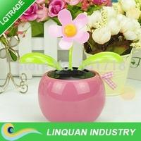 5pcs/lot Swing Solar Flower+ Magic Cute Flip Flap /Solar Plant Car decoration