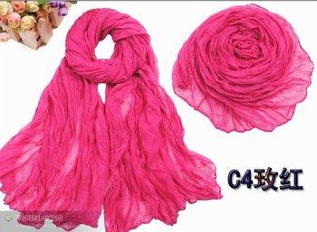 Free shipping 180*95cm big size popular shawls,crumple plain shawls/scarf, new fashion,D232