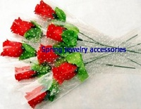 lovely single stem red rose silk Flowers / simulation flowers for wedding party Home decorations