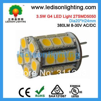 27SMD 3.5W G4 LED Light Input 12V 24V DC 27SMD5050