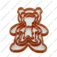 Free shipping,4pcs Plastic Bear shape cookie cutters set