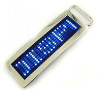 Brand New Cool Personalized Programmable Scrolling LED Disco Belt Buckle Red & Blue 102124