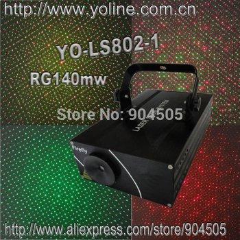 YO-LS802-2 R200mw/650nm,G50mw/532nm DJ Lighting,firefly effects,scanner system:Stepper motor