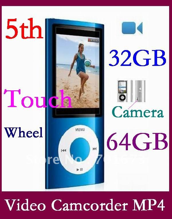 New 64GB 5th Rolling wheel & shake songs 1.3MP camera MP3 MP4 player ship via China post(China (Mainland))