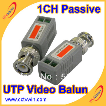 Free shipping,  RJ45 CCTV UTP Passive Video Balun,cat 5, cat6 cctv system utp video balun connect cctv camera, dvr