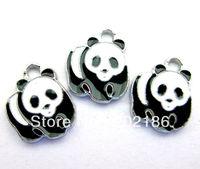 50pcs Panda Hang Charms Fit Pet Dog Cat Tag Collar Wristband