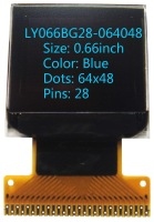 0.66 inch 64x48 Blue  screen oled  display
