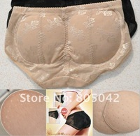 wholesale and retail Hip Shaper Buttock Lift Push Up Panty with cotton pad beige black M,L,XL,XXL 2pcs/lot