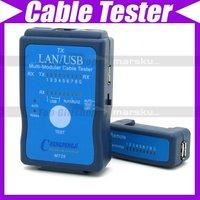 Cable Tester LAN USB RJ45 RJ11/RJ12 Network Ethernet CAT5 UTP Multi-Modular PC #171