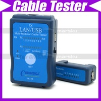 Cable Tester LAN USB RJ45 RJ11/RJ12 Network Ethernet CAT5 UTP Multi-Modular PC #171