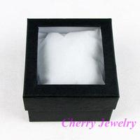 Wholesale 24 Black Paper Watch Display Box Case Jewellery Box