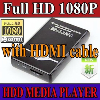 "wholesale 1080P 2.5"" SATA HDD Media Player RM MKV H.264 SD USB HD - HDMI cable - 20 pcs per lot"