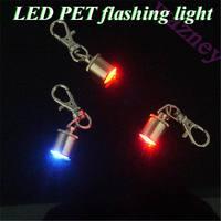 200pcs/lot *Pet Dog Flash LED Light Lamp Safety Flashing flasher Blinker Collar Tag Pendant Tag Safety Collar