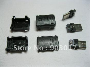 3.0 Micro 5pin USB Male Plug Connector Plasitc Handle 200 pcs per lot hot sale