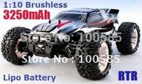 Promotion - 1/10 scale 4WD Brushless Monster Truck,Lipo Battery 7.4V 3250mAh