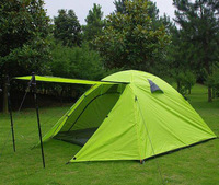 Waterpoof 3-4 Person Double Layer Aluminum Alloy Camping Tent Family Outdoor Tent