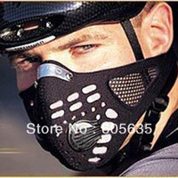 Wholesale 30Pcs/Lot Anti-pollution City Cycling bicycle  Mask Mouth-Muffle dust mask Winter warmth filter mask black in stock