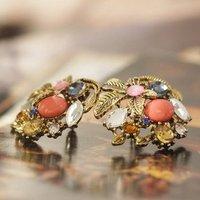 ES054 Women's fashion vintage  stud pendant earrings for women wholesale charms 11A