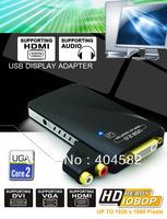 new products USB HD graphics card USB to VGA / DVI / HDMI Multi-Display Converter Adapter / usb vga adapter with audio