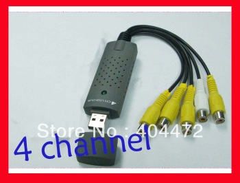 5pcs free shipping  USB DVR 4 Channel CCTV Camera Video Capture Adapter