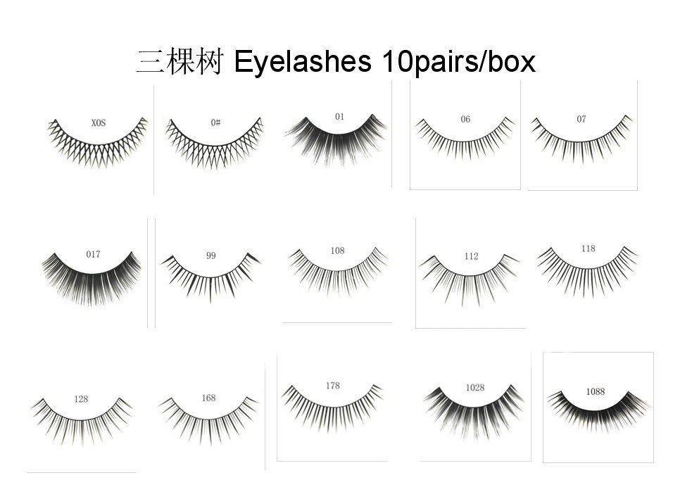 Sample Order 16Styles for Choice thicken black Fake Eyelashes False Eye lashes Synthetic Fibre eyelash Eyelash Extension(China (Mainland))