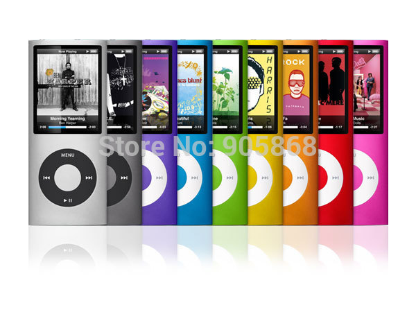 novas cores 9 8gb fm vídeo gen 4th mp3 mp4 player free ship