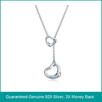 Wholesale & Retail for 100% Guaranteed Full 925 Sterling Silver Fashion Necklace with White Gold, Top Quality!! (R0659)