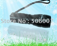 aluminium alloy led flashlight with pancratic lens,high power with 1W