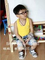 Free freight  wholesale boy Pure cotton sleeveless Multiple color vests,boy T-shirt,kid vest T shirt