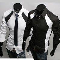 6036 Free Shipping New Mens Shirts Casual Slim Fit Stylish Dress Shirts 6036