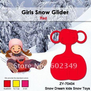 Free Shipping Hot Sale Kid Winter  Plastic Boy Ski Sledge(Green/100PCS/CTN)