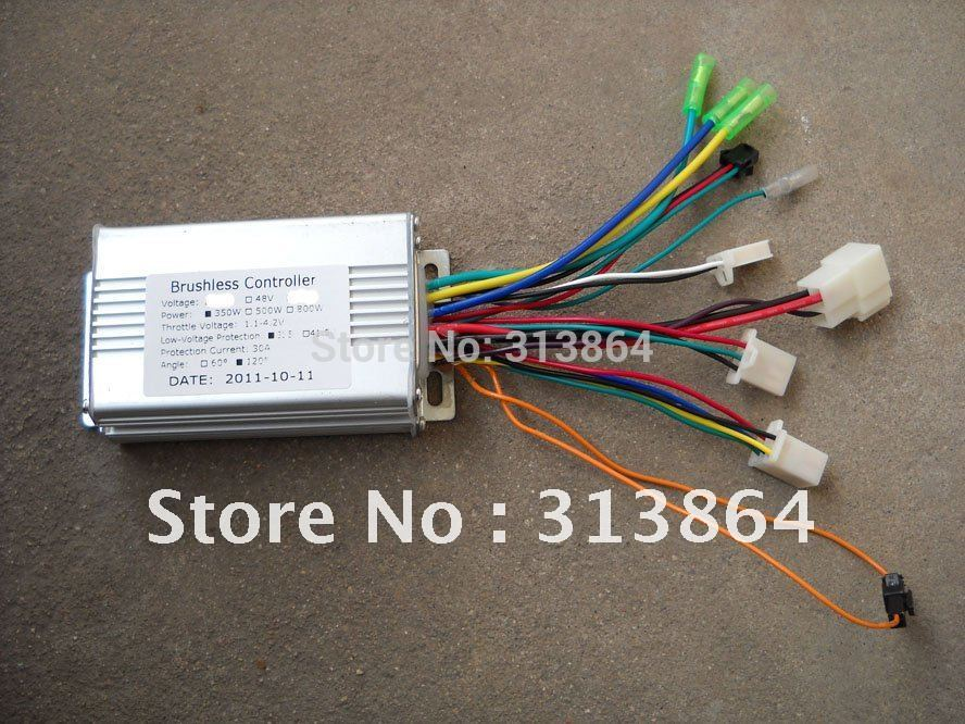 Free Shipping High quality 36V/48V 350W/250W BLDC motor controller E-bike brushless speed controller(China (Mainland))