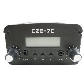 FMUSER  CZH CZE-7C  7W  FM stereo PLL broadcast transmitter 76-108MHZ FREE SHIPPING