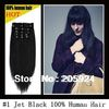 16&quot;--- 26&quot; Full Head Remy Clip in Human hair extensions Black Brown Blonde 70g 7pcs/set , 10sets/lot ---wholesale