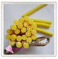 a-06 Free Shipping 100pcs 5mm Yellow Lemon Shape Fruit Cane Fancy Nail Art  Polymer Clay Cane