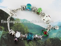 FREE SHIPPING 3PCS European Style ANIMAL Bead Charm Bracelet #20053