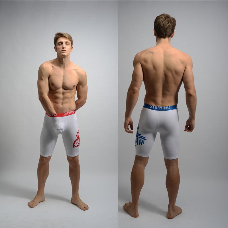 2013 print flower / men's middle pants underwear Gym WEAR /closed-fit /2 colors