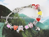 FREE SHIPPING 3PCS European Style Bead Charm MOM Bracelet #20061