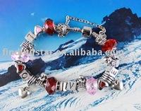 FREE SHIPPING 3PCS European Style Love Bead charm bracelet #20069