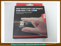 New Arrival Hottest 150Mbps Mini USB Wireless Lan card 802.11N(1T1R) SE-WL07