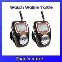 Pair Wrist Watch Style Walkie Talkie Digital Radio Mic