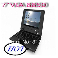 7inch VIA8850 android 4.0 /WINCE UMPC EPC notebook mini laptop black white green red pink free shipping