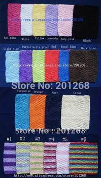 9inch Crochet tube top tutu top wide crochet headband size 7.5x9inch Mix Color 50pcs per lot