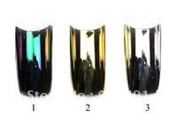 Free Shipping - French tip Metallic nail tips false nail art tip.10pcsx10sizes packed in one box
