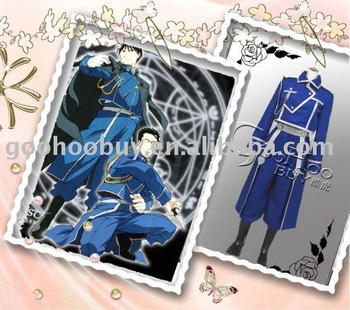 Free Shipping ! Wholesale -Full metal Alchemist Roy Mustang Cosplay Costume