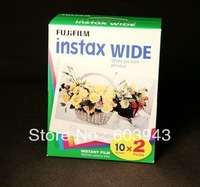 25 pcs/lot  Free shipping Hot Promotion!Free shipping fuji instax TWIN PACK Instax Wide film for instax100/200/210/500