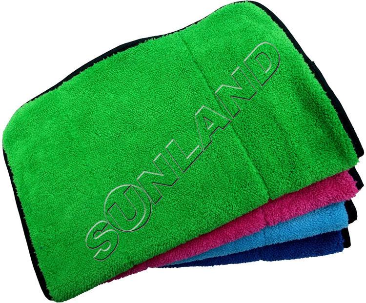 25* 25cm 10x Blue Cleaning Plush Detailing Car Clothes Microfibre Towel Durable
