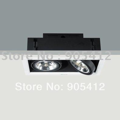 halogen downlight halogen recessed downlight halogen down light with 50W*2 AR111 12v free shipping(China (Mainland))