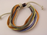 Best Selling Best Seller Promotion Leather Hemp Multi-layer Bracelets Handmade Factory Price